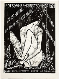 potsdamer kunstsommer 1921 - große sitzende by otto mueller
