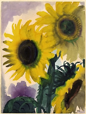 sonnenblumen / sunflowers by emil nolde