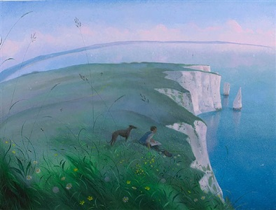 sketching on the cliffs - the pinnacles by nicholas hely hutchinson