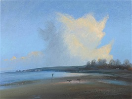 after the rain - studland beach by nicholas hely hutchinson