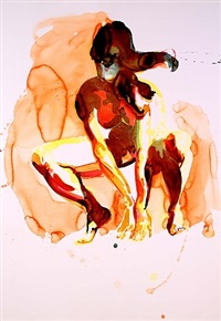crouching woman by eric fischl