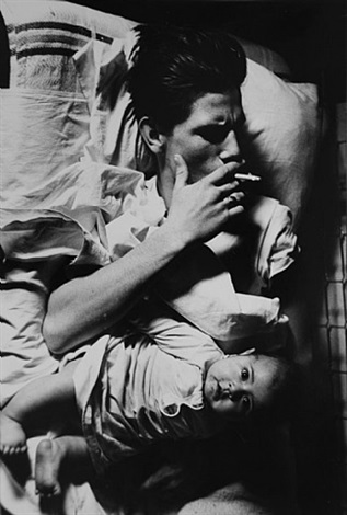 "billy with baby (from the series ""tulsa"") by larry clark"