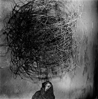 twirling wires by roger ballen
