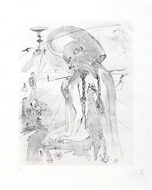 athena by salvador dalí