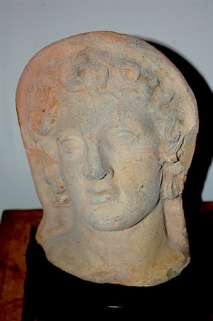 votive head of a young boy