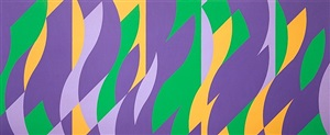 painting with verticals (cadence 2) by bridget riley