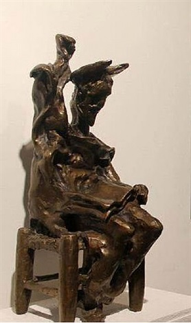 don quixote seated (prestige scale) by salvador dalí