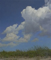beach grass and cloud (sold) by peter bergeron