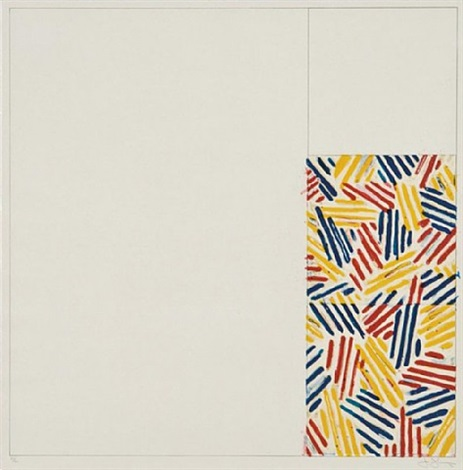 "#4, from 6 lithographs (after ""untitled 1975"") by jasper johns"