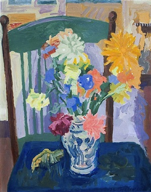 summer bouquet and chair by nell blaine