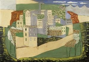 vue d'un village by henri hayden
