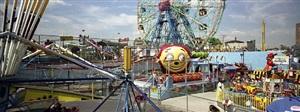 astroland with happyface, coney island-brooklyn, ny usa by ron meisel