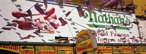 nathan's famous frankfurters, coney island-brooklyn, ny usa by ron meisel