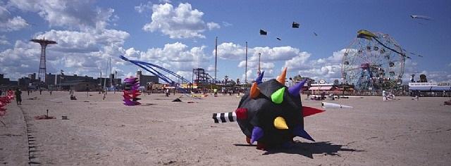 kite festival, coney island-brooklyn, ny usa by ron meisel