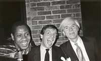 andre leon talley, steve rubell, and andy warhol by bob colacello