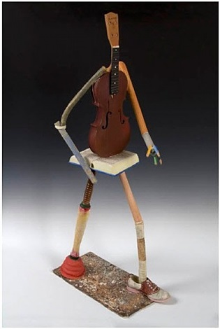 walking musician by richard shaw
