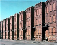 newton street row houses, (brownstone building), holyoke, ma by mitch epstein