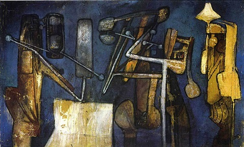 composition grise by roberto matta