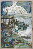 medway swimming club by billy childish