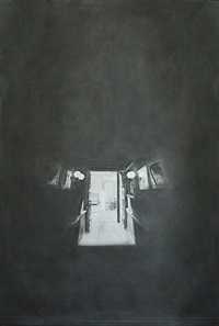 ohne titel (dunkler korridor) / untitled (dark corridor) by simon schubert