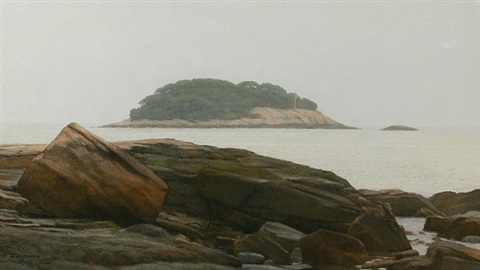 island calm (sold) by peter bergeron