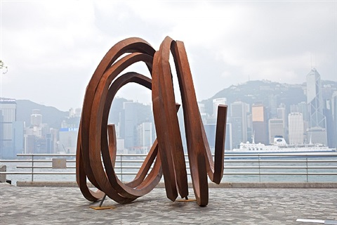 two indeterminate lines by bernar venet