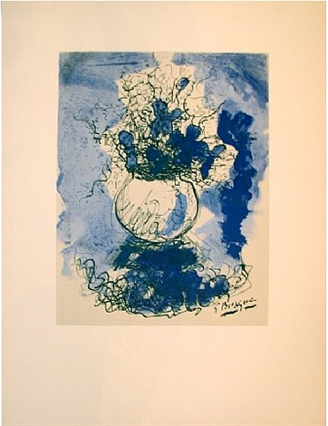 blue background by georges braque