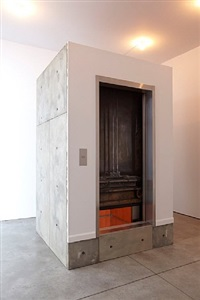 stuck elevator by leandro erlich