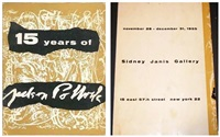 15 years of jackson pollock. november 28 - december 31, 1955 at sidney janis gallery by jackson pollock