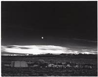 moonrise over hernandez by ansel adams