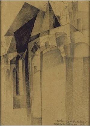 petersdorf/church with steeple by erika giovanna klien