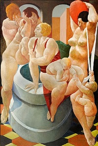 the fountain by lorser feitelson