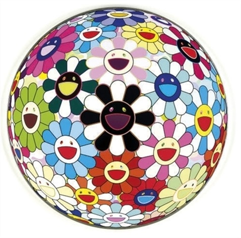 flower ball 3 d blood by takashi murakami