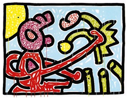 flowers #1 by keith haring