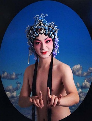 untitled (boy with headdress) by gao yuan