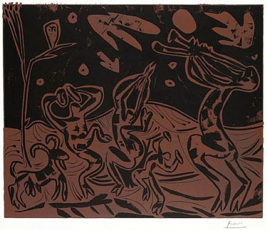 les danseurs au hibou (b. 936; ba. 1256) by pablo picasso