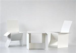 carton table and carton chair by sebastian de ganay