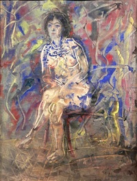 sitting nude by anatoly zverev