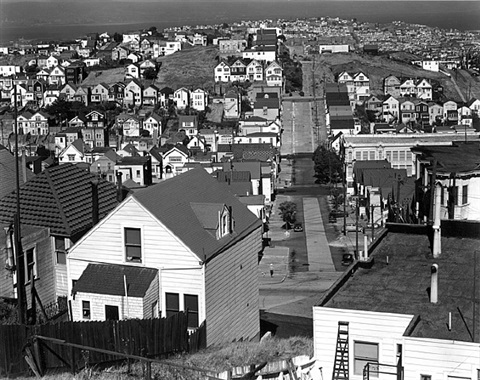 buildings and street, san francisco by brett weston