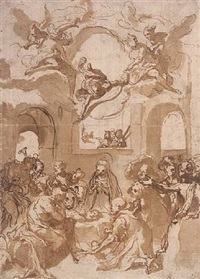 adoration of the sheperds by taddeo zuccaro
