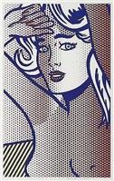 nude with blue hair, state i by roy lichtenstein