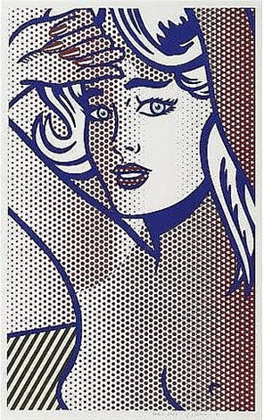 nude with blue hair, state i by roy lichtenstein