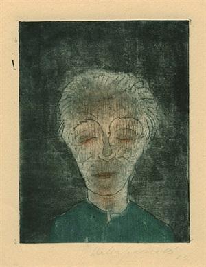 ermüdeter mann (selbstporträt) by walter gramatté