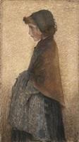 jeune fille rousse by lucien lévy-dhurmer