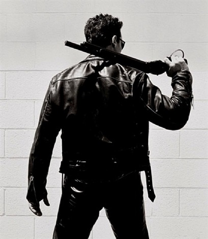 arnold schwarzenegger, back view by herb ritts