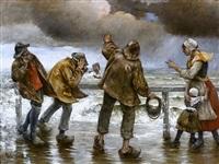 la digue par temps d'orage (storm from the dyke) by norbert goeneutte