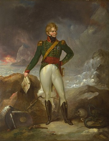 portrait of colonel (later general sir) george de lacy evans by eduard (peter eduard) stroehling