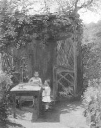 spielende kinder in der gartenlaube by hedwig marcella störck