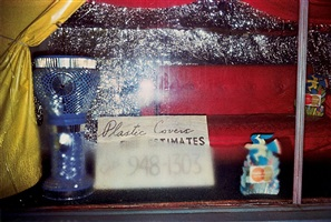 untitled (misty window 'plastic covers') by william eggleston