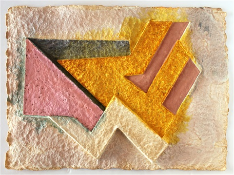 bogoria vi from the paper relief project by frank stella